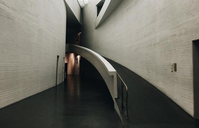 Internal ramp to upper floor